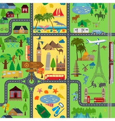 Travel background vacations beach resort camping vector