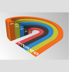 3D Infographics Element Circle Based Competition vector image