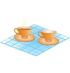 Cup and plate vector