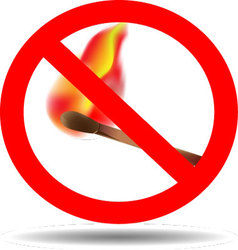 Sign of the fire ban vector