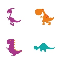 Cute dinosaur toys vector