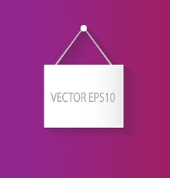 Hanging sign purple vector