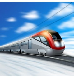 Modern train in motion vector