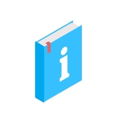 Information sign on book icon isometric 3d style vector