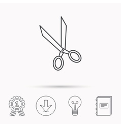 Tailor scissors icon hairdressing sign vector