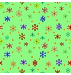 Circle and flower color seamless pattern vector image