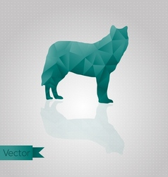 Abstract triangular wolf vector image vector image