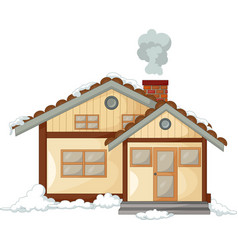 Antique snow house cartoon vector