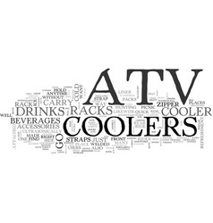 Atv coolers on the go text word cloud concept vector