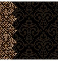 baroque damask luxury border vector image vector image