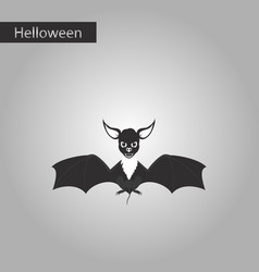 black and white style icon of cute bat vector image vector image