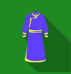 blue bathrobe of mongoliansfragment nominalnog vector image