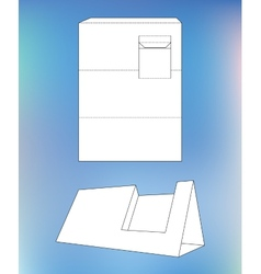 Business card display box box with blueprint vector