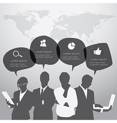 Business people are standing vector image
