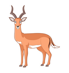 cartoon smiling impala vector image