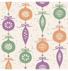 Christmas balls seamless pattern vector image vector image