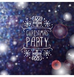 Christmas party - typographic element vector