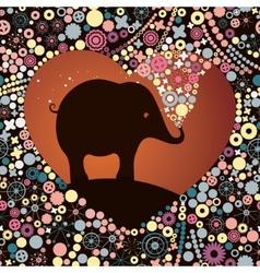 Elephant lover vector