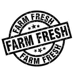 Farm fresh round grunge black stamp vector