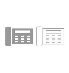 Fax icon grey set vector