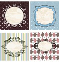 floral pattern frame vector image vector image