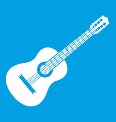 guitar icon white vector image