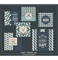 Happy father s day templates in retro style vector