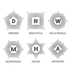 Hipster vintage labels logo or badges vector