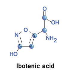 ibotenic acid ibotenate vector image vector image