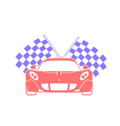 Icon racing of sports cars vector