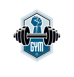 Logotype for heavyweight gym or fitness sport vector
