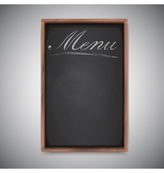 Menu chalkboard on white background vector image