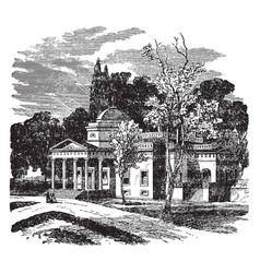 Monticello jeffersons estate vintage vector