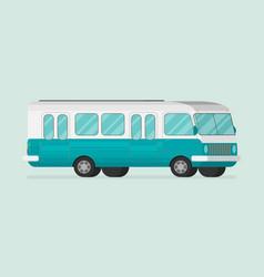 retro bus flat vector image vector image