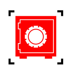 safe sign red icon inside vector image