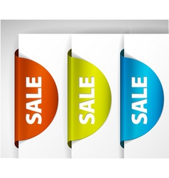 sale label set vector image vector image