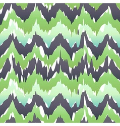 Seamless camouflage ogee in ikat weave background vector