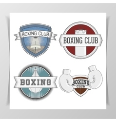 Set of Boxing Design Elements vector image vector image