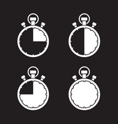 stopwatch timer set vector image