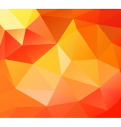 Triangle background orange polygons vector