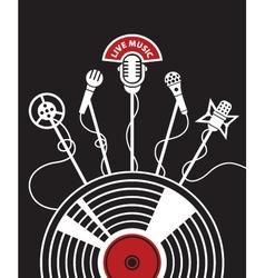 Vinyl and microphones vector