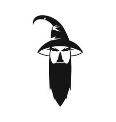 Wizard icon in simple style vector