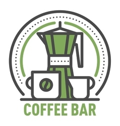 Coffee monogram logo badge vector