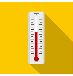 Thermometer with degrees icon simple style vector