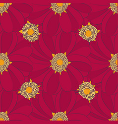 seamless pattern with red flowers can use for vector image
