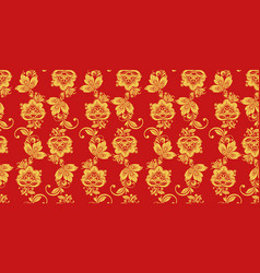 hohloma seamless pattern russian culture decor vector image
