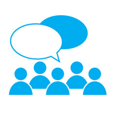 People talking icon on white background discuss vector
