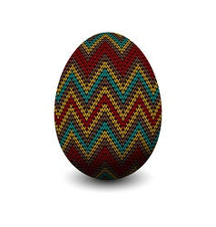 Knitted egg vector