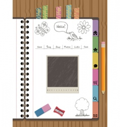 notebook web navigation vector image