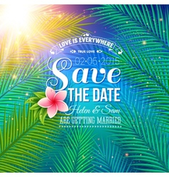 Save the date concept with nature style vector